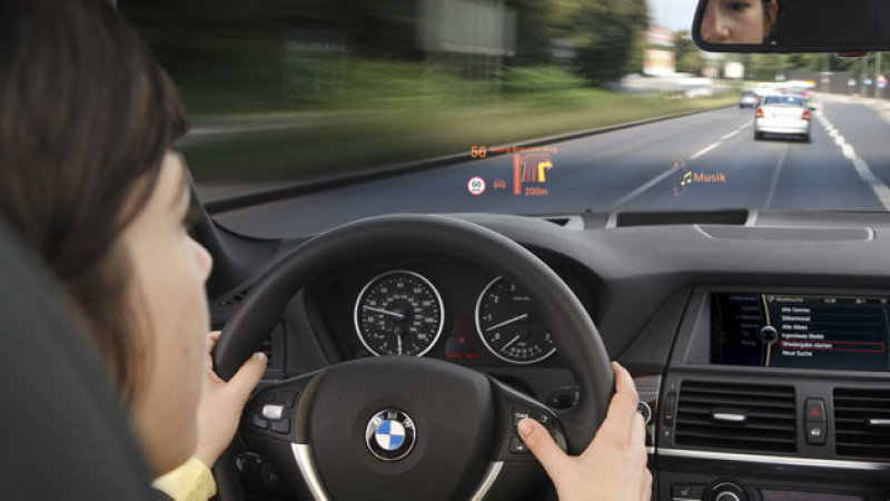 BMW Heads Up Display in newer models